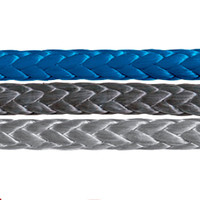 Samson Amsteel Blue rope in blue, black and gray.